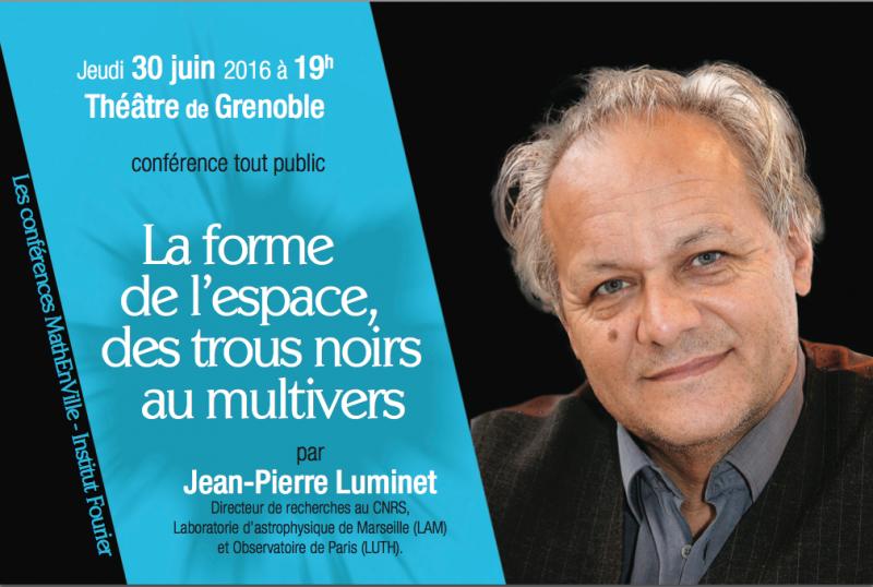 """Thumbnail for Jean-Pierre Luminet - """"La forme de l'espace : des trous noirs au multivers"""""""