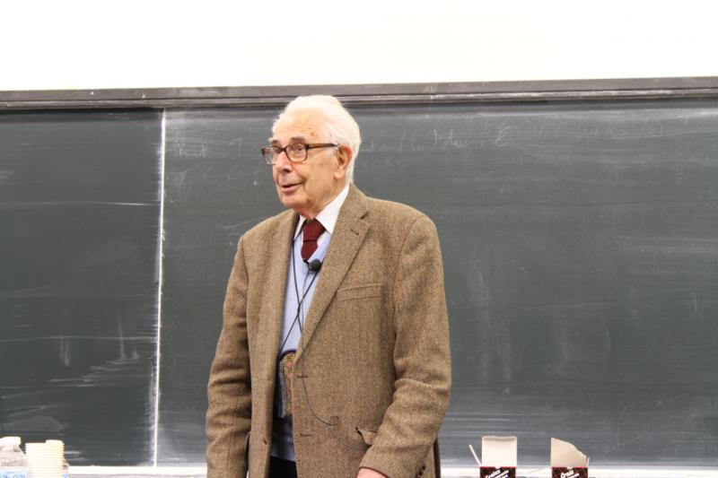 jean-Pierre kahane en 2016 pour les 50 ans de l'Institut Fourier