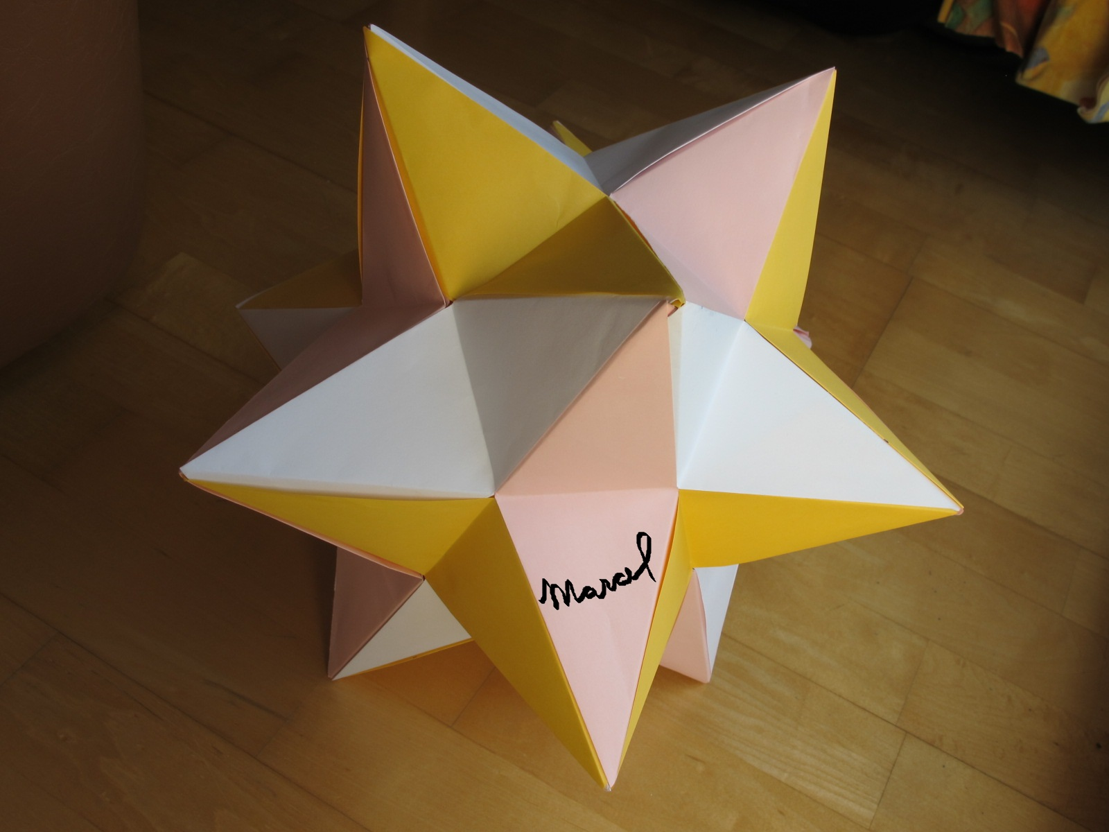 Paper Great Stellated Dodecahedron | 1200x1600